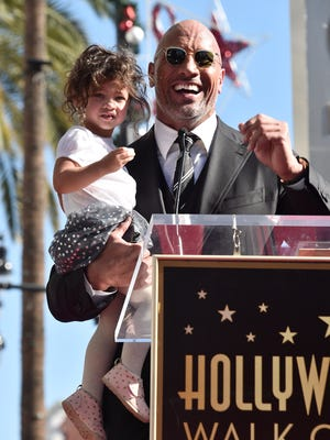 The Rock with his daughter, Jasmine, last December.