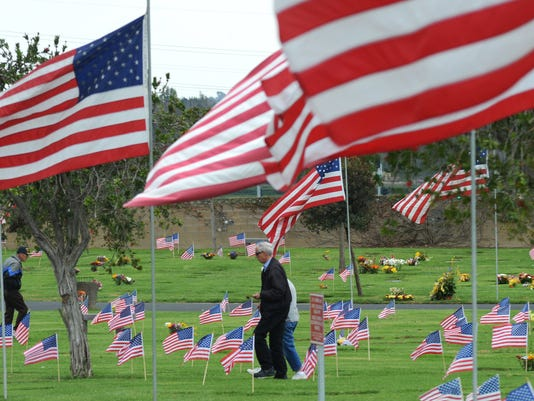 Veterans Day cemetery