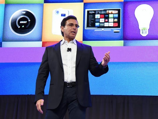 Mark Fields, shown here at last week's CES in Las Vegas,