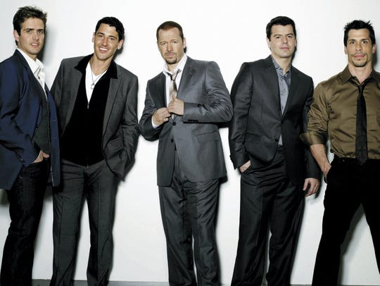 New Kids on the Block, from left to right: Joey McIntyre;