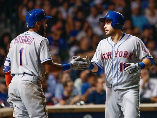 Amed Rosario and Travis d'Arnaud