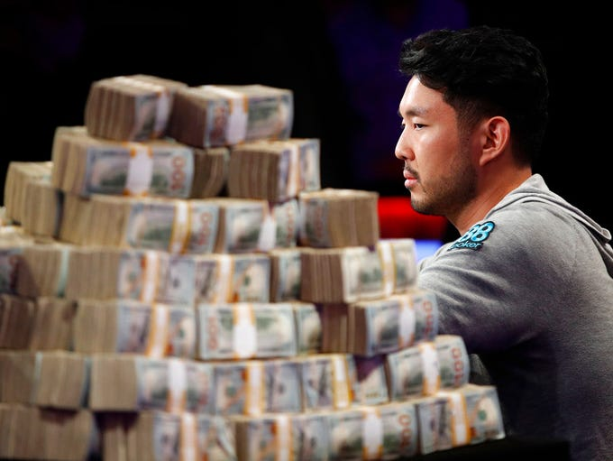 John Cynn competes during the World Series of Poker
