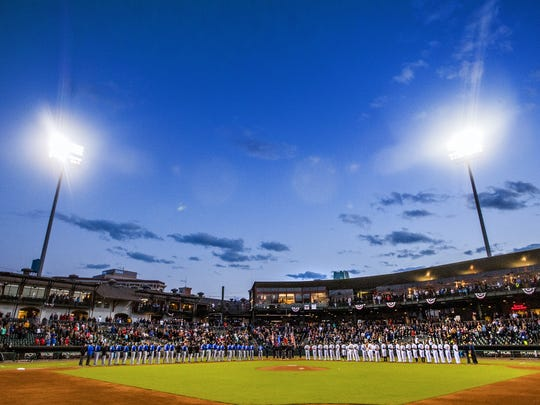 Montgomery Biscuits opening night at Riverwalk Stadium