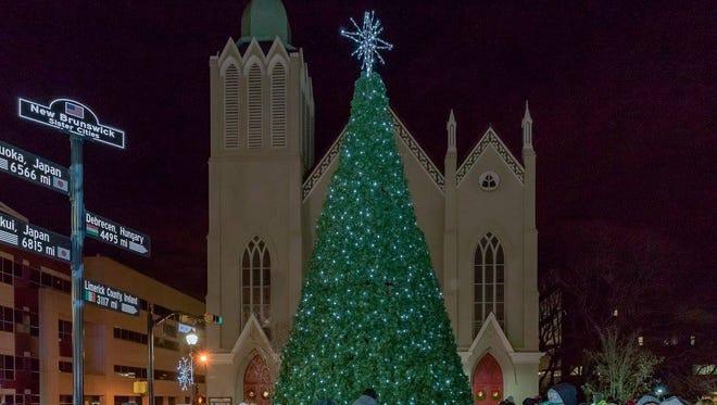 The 2016 tree lighting in New Brunswick.
