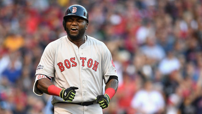 David Ortiz who is retiring at the end of the season, is 1-for-8 in the series.