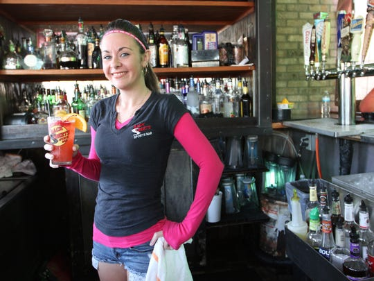 Erin Hannon, of BackStreets bar in Cape Coral, was one of the finalists in the best bartender competition.