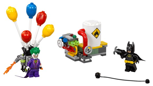 LEGO Joker is a pesky one with his hot air balloon
