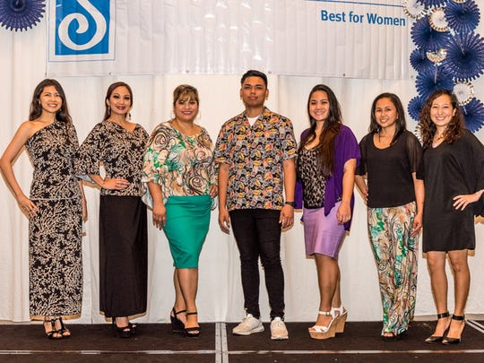 The Kristal Kollection and the models donated their time to support the Soroptimist International of the Marianas' 13th Annual Christmas Sunday brunch held on Dec. 10, 2017 at the Sheraton Laguna Guam Resort. The proceeds benefited Guam's women and girls. Pictured from left: Eileen Agahan, Russchel Seballos-Blas, Nadine Cepeda-Santos, Aaron Sumbang, Jessica Atenta-Blas, Vanessa Ignacio- Chovich, Hyunhi Chong.