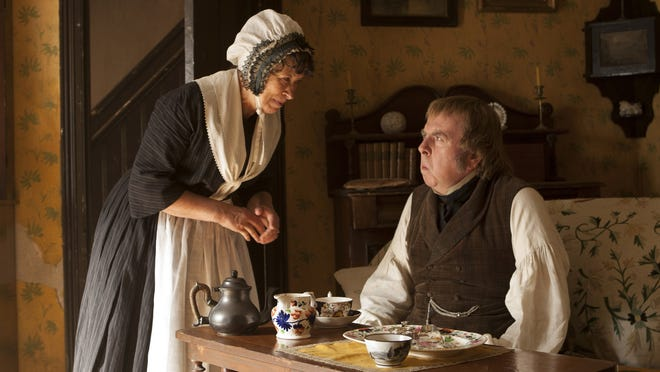 """Marion Bailey as Sophia Booth and Timothy Spall as J.M.W. Turner in """"Mr. Turner."""""""
