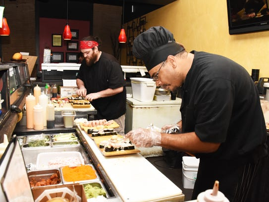 Sushi Spot chefs Aaron Goodfriend and David Catotti