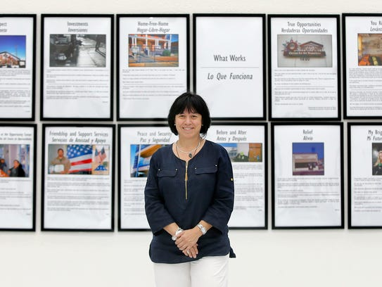 UTEP social work Professor Eva Moya is shown with the