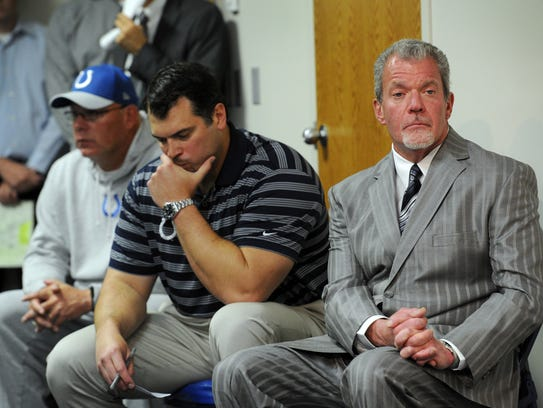 Indianapolis Colts owner Jim Irsay,right,  General