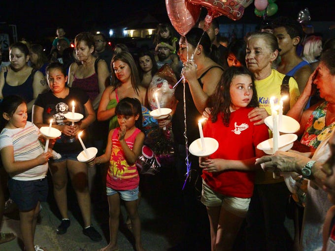 <p>Hundreds gathered in Bullhead City for a vigil for 8-year-old Isabella Grogan-Cannella, who was found dead after she had gone missing earlier this week.</p>