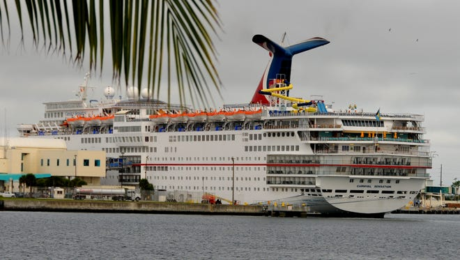 The Carnival Sensation is docked at Port Canaveral Cruise Terminal 10 last month. That terminal is in line for more than $38 million in upgrades.