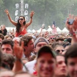 Fans cheer at the Firefly Music Festival in Dover