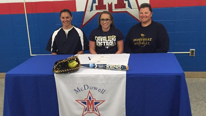 Montreat recruit Aly Woody and McDowell are the 10th ranked team in NCHSAA 4-A softball, according to MaxPreps