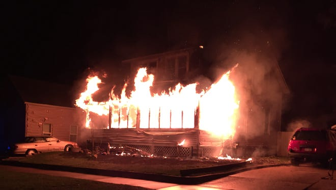 A fire at 531 Ninth Ave. N. in Wisconsin Rapids displaced a family of five early Monday morning.