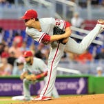 Nola pitches 8 innings to help Phillies beat Marlins