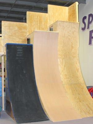 "New ""Warped Walls"" at Orange County Sports Club's newly updated Warrior Zone."