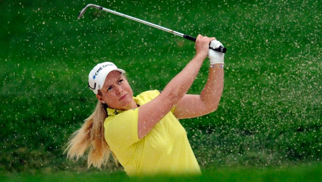 Brittany Lincicome has used length off the tee to take the lead at the LPGA Championship.