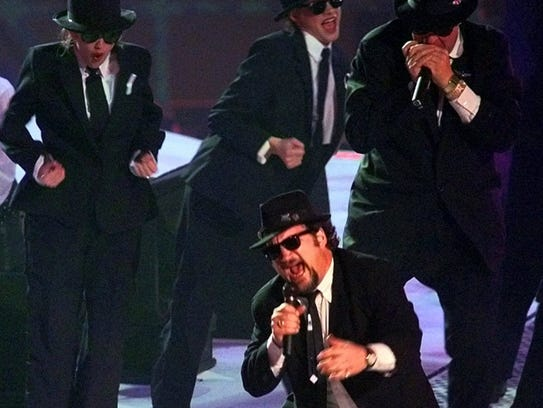 Jim Belushi performs as one of the Blues Brothers during