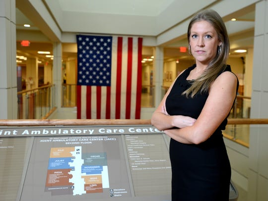 Dr. Candace Drake, a psychologist at Pensacola's Joint Ambulatory Care Center, counsels about 25 Pensacola area veterans a week.