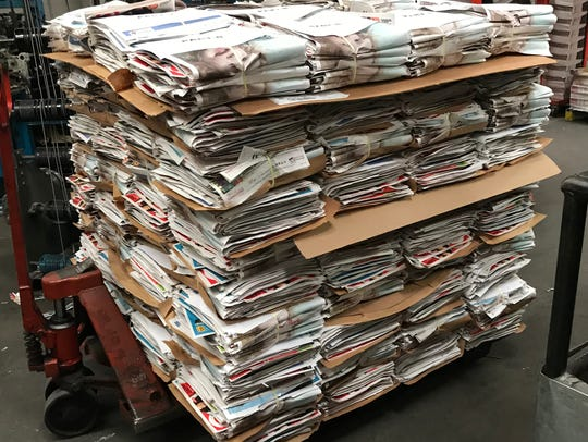 In this file photo, a pallet of Black Friday sales flyers await being inserted in the Wichita Falls Times Record News.