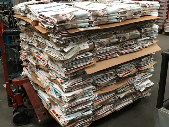 In this file photo, a pallet of Black Friday sale ads await being inserted into the Thanksgiving edition of the Times Record News.