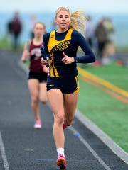 Eastern York's Hannah Myers, seen here in a file photo, won the 200 and 400 on Monday against York Suburban. YORK DISPATCH FILE PHOTO