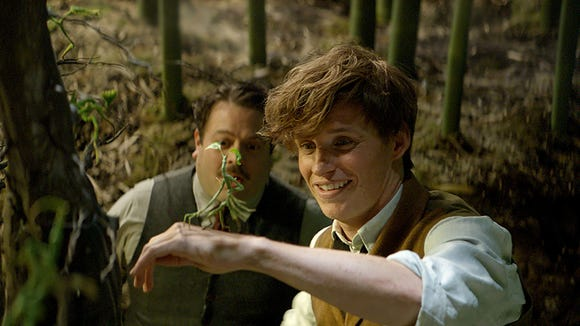 Eddie Redmayne and Dan Fogler in 'Fantastic Beasts