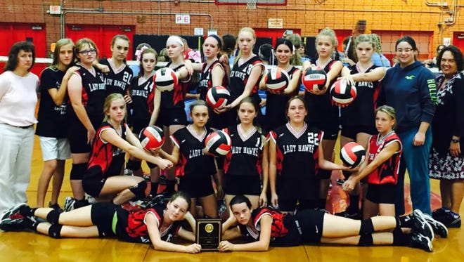 The North Buncombe Middle School volleyball team.