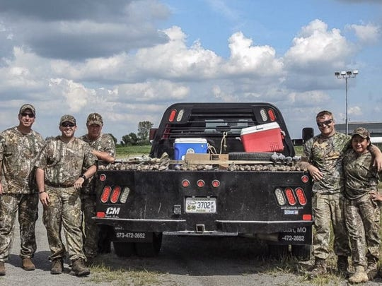 Participants in the Ronnie Rich Memorial Dove Hunt from left to right: SSG Jeffrey Davis, SGT Terry Slayers, SFC Ronald Busbin, SGT Daniel Parlier, SGT Laural Schroeder.