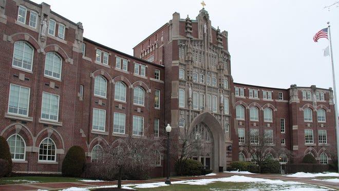 Providence College's Harkins Hall.