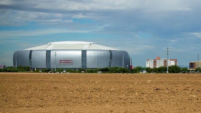 The University of Phoenix Stadium in Glendale on Friday, Oct. 16, 2015.