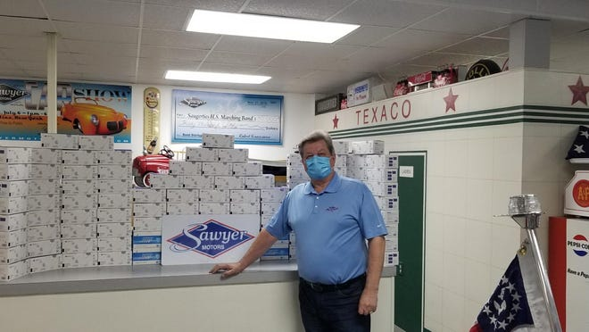 Bob Siracusano, owner of Sawyer Motors in Saugerties, will be handing out 5,500 face masks and toilet paper at a drive-through at Cantine Veterans Memorial Field on Saturday.