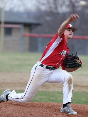 Hiland's Kobe Shetler will get to shine one last time in the Wayne-Holmes Baseball Coaches Association Farewell Game Tuesday. Photo courtesy of Kobe Shetler