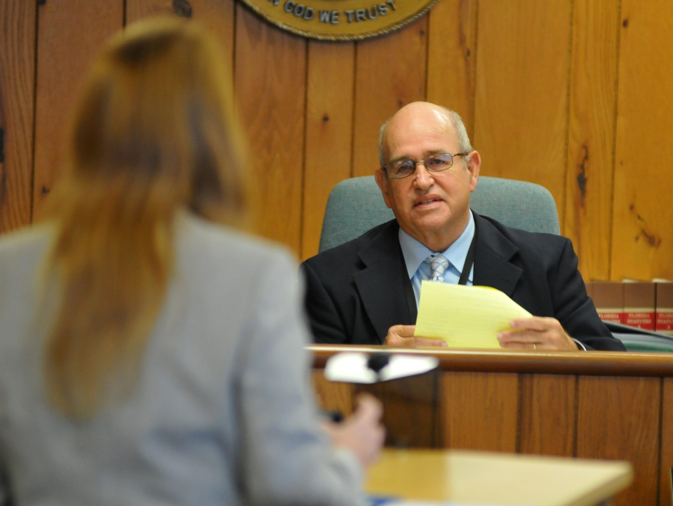 A hearing was held Friday morning at the Titusville
