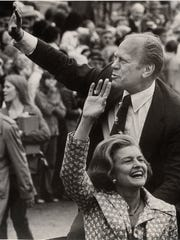 Then President Gerald Ford and his wife, Betty Ford,