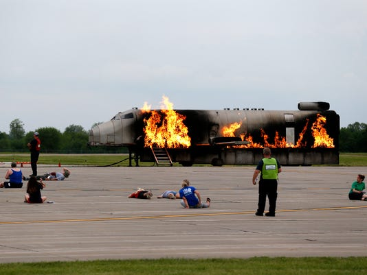 Mock plane crash