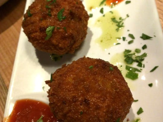 Station 49's Arancini was three risotto balls with