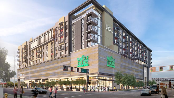 Whole Foods Marketplace will open next month on the ground floor of The Local, an upscale apartment complex in downtown Tempe.