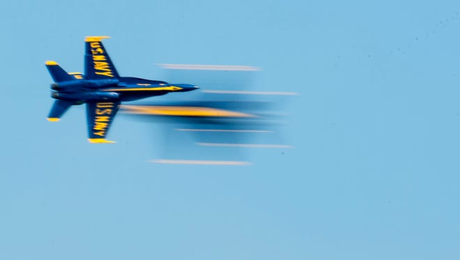 The Blue Angels perform at the Ocean City Air Show Sunday, June 14 in Ocean City.