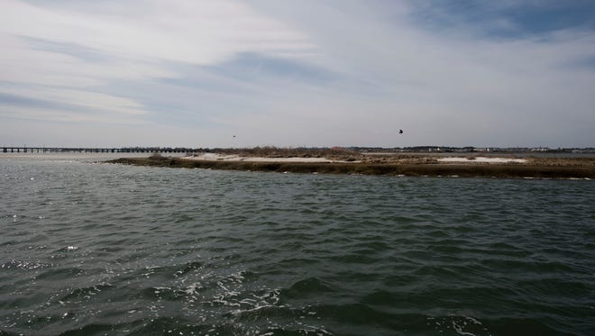 A island on the Isle of Wight Bay in Ocean City.