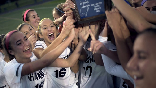 The Shawnee girls claim the South Group 4 title after a 2-0 win over Eastern Thursday, Nov. 12 in Medford.
