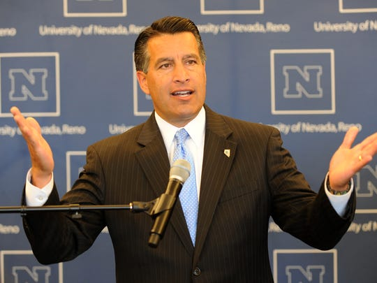 Gov. Brian Sandoval, seen here in a photo announcing the new fitness center at UNR, will likely name a new Nevada regent soon.