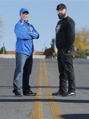 The El Paso Times' cross country coaches of the year are San Elizario's Cesar Morales and Tornillo's Jesse Garcia.