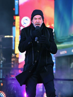 Neil Diamond performs during a New Year's Eve broadcast Dec. 31, 2017, in New York's Times Square.