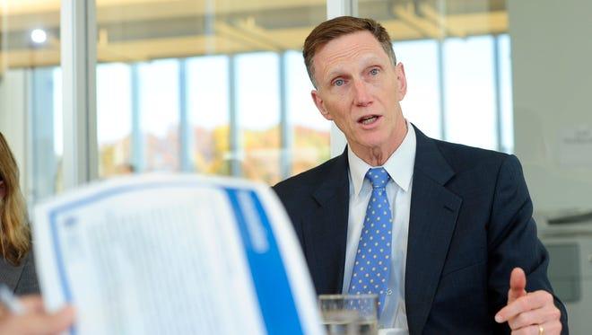 John Pistole, outgoing TSA head, meeting with the USA TODAY Editorial Board.