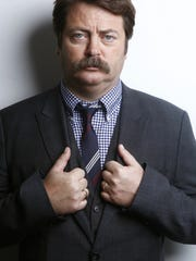 "Nick Offerman is known for his deadpan delivery at Ron Swanson in ""Parks & Recreation."""