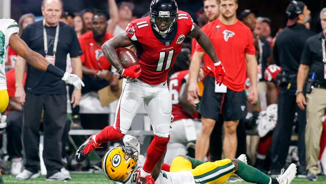 The Bills have a huge test Sunday trying to contain Atlanta wide receiver Julio Jones.